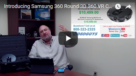 Introducing Samsung 360 Round 3D 360 VR Camera