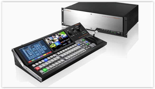 Roland's Rob Read discusses the new V-1200HD hybrid-engine 2 M/E multi-format switcher