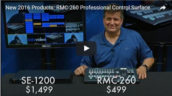 Datavideo RMC-260 Control Panel Now Shipping