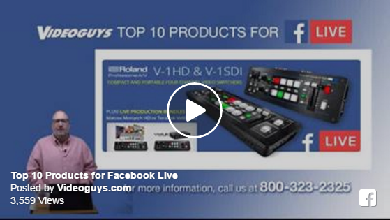 Top 10 Products for Facebook Live Video