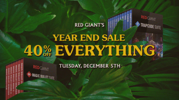 Flash Sale Today! 40% Off Red Giant Software Today Only