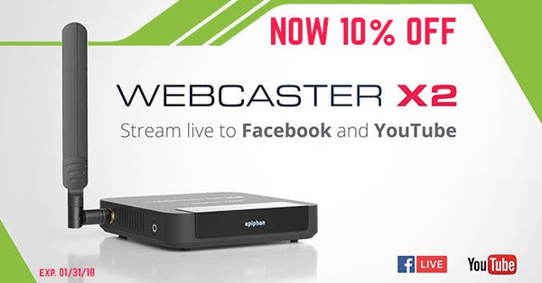 10% OFF Epiphan Webcaster X2 - The Simplest Facebook Live and YouTube Encoder