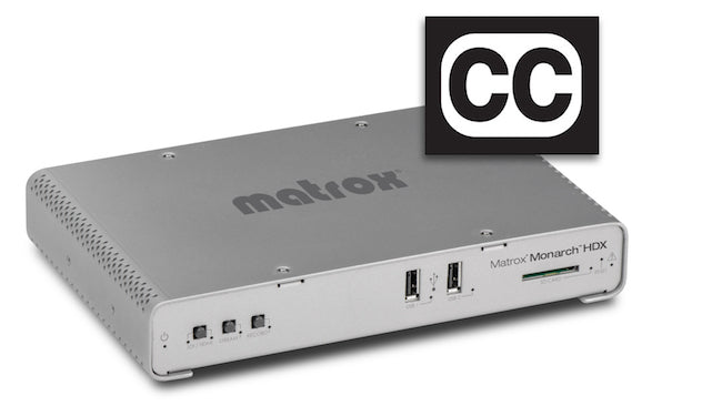 Matrox Monarch HDX Adds Closed-Captioning to Live Web Programming