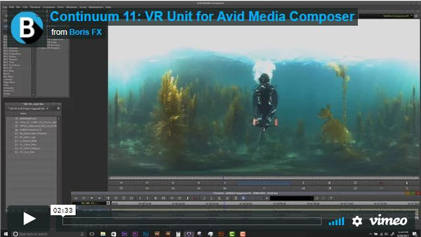 Continuum VR 360 Video Editing Plug-In for Avid Media Composer