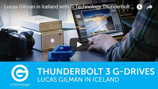G-Technology Thunderbolt 3 Drives on Location in Iceland