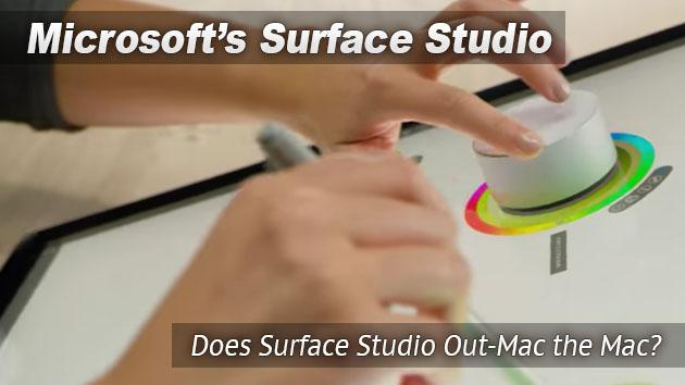 Does the Microsoft Surface Studio Out-Mac the Mac?
