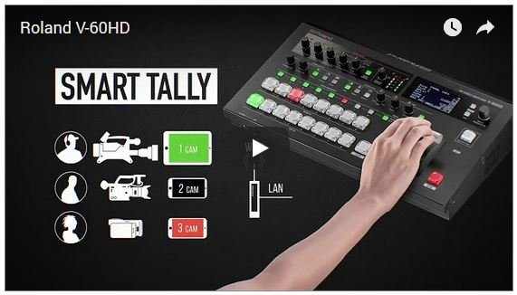 Roland V-60HD Switcher Can Use Your Smartphone For Wireless Tally