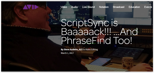 With Avid ScriptSync and PhraseFind – Life is Beautiful