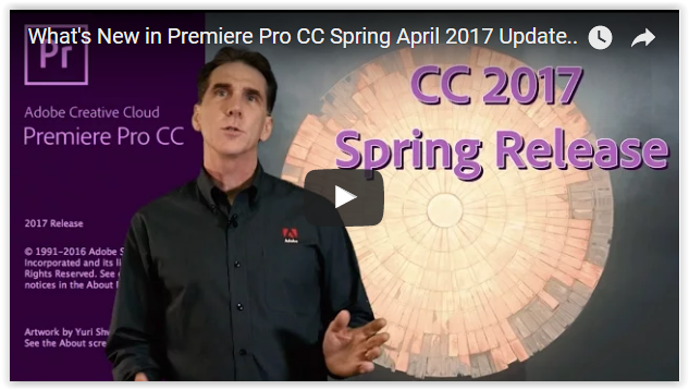 Deep Dive into Adobe Premiere Pro CC Spring 2017 Update
