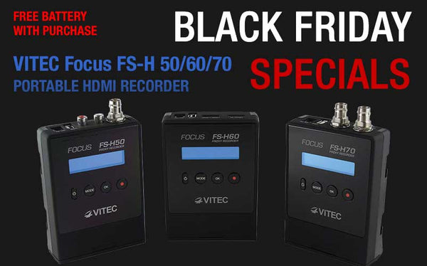 Black Friday Special - Free Battery with Focus FS-H50/60/70 Purchase