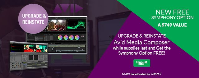 Avid Media Composer Owners: Last Chance to Upgrade & Reinstate!