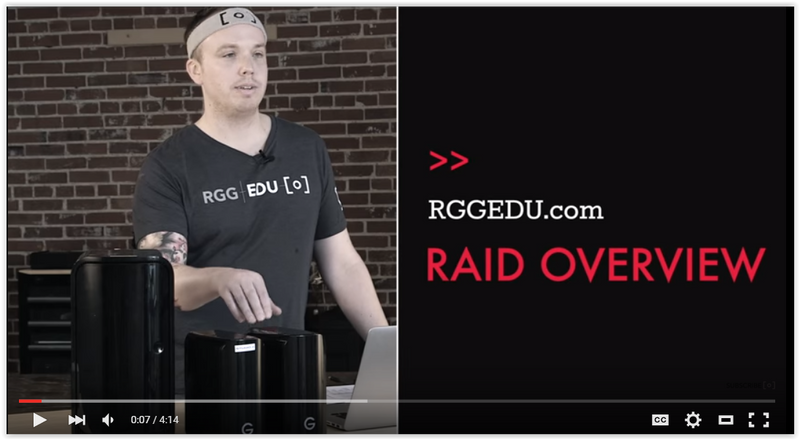 Video Guide to Practical Uses of RAID from RGG EDU