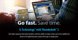 Save Time with G-Technology and Thunderbolt 3