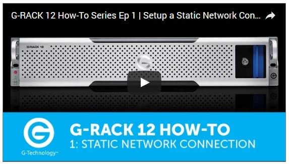 G-Technology's G-RACK 12 How-To Series Video Guide