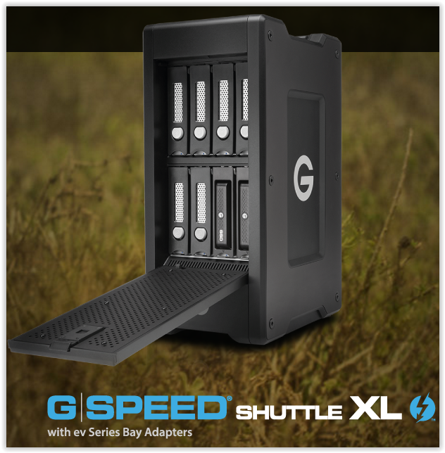G-Tech  G-SPEED Shuttle XL Transportable 8-Bay Solutions Deliver Unprecedented Flexibility, Speed & Capacity on the Go