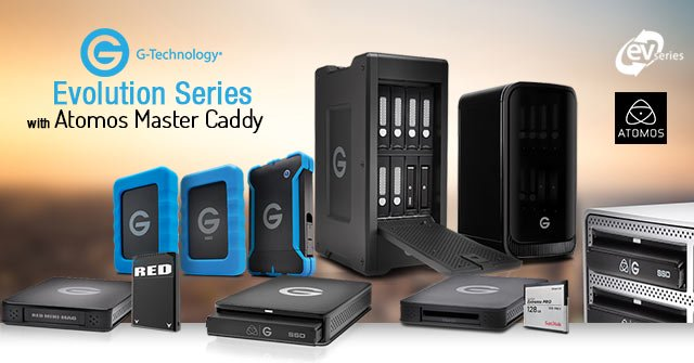 G-Technology Master Caddy Products for Atomos