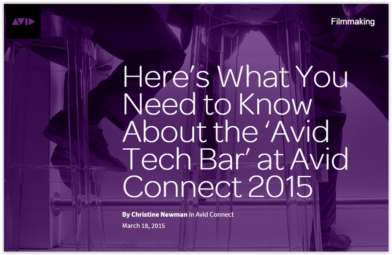 Check out the Avid Tech Bar at Avid Connect 2015