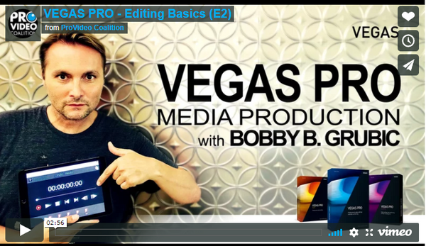 Customizing VEGAS Pro for Editing