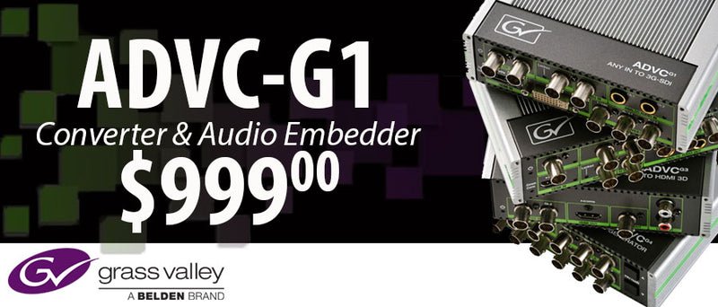Grass Valley ADVC G-1 SDI Multi-Functional Converter Now In Stock!