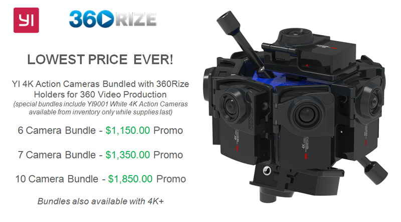 Special YI 4K Action Cameras Bundled with 360Rize Holders