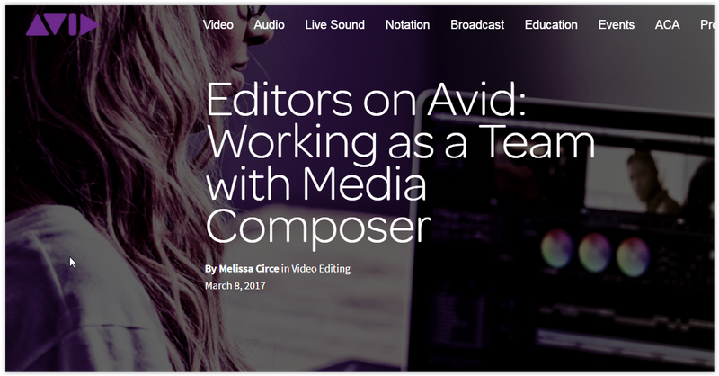 Working as a Team with Avid Media Composer