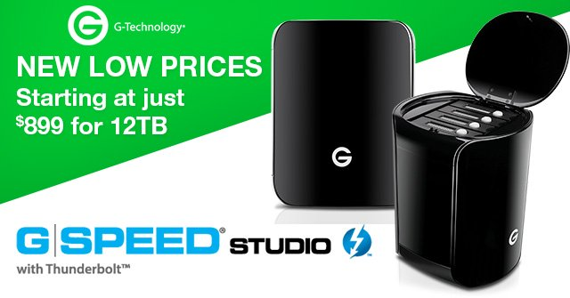 G-Technology G-SPEED Studio RAID - New Low Price!