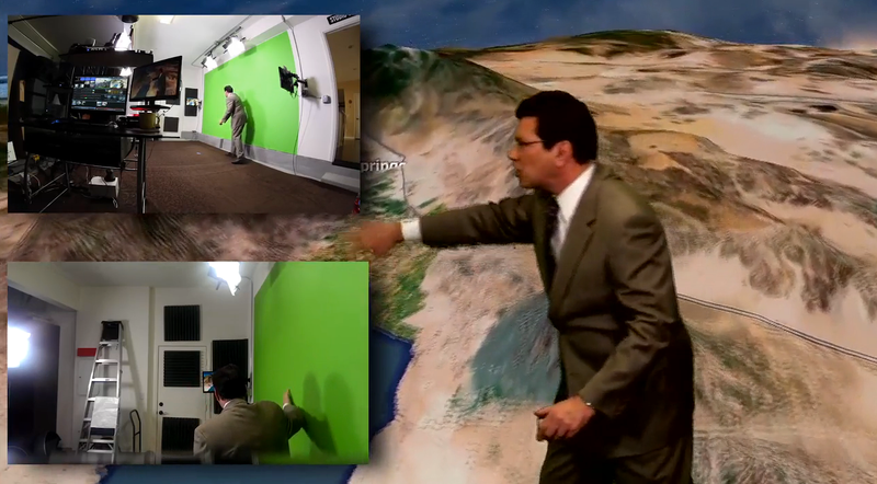 Weatherman transforms garage into Studio with NewTek TriCaster Mini