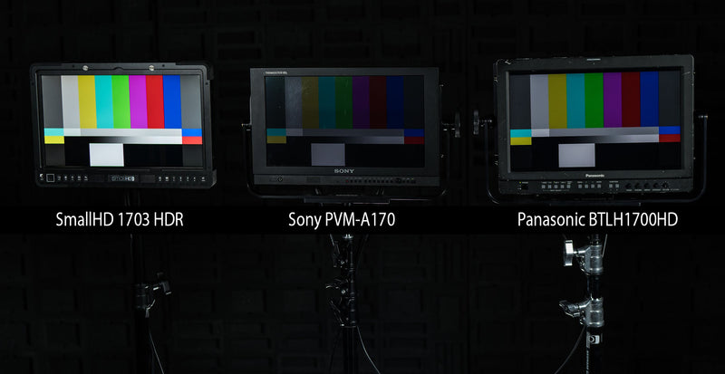 How SmallHD 1703 HDR Compares to Panasonic and Sony 17-inch Monitors?
