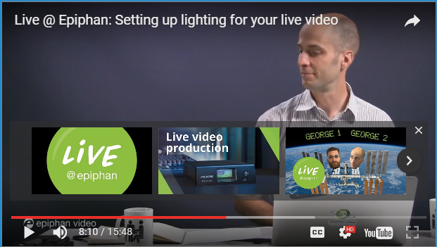 Live @ Epiphan: Setting up lighting for your live video