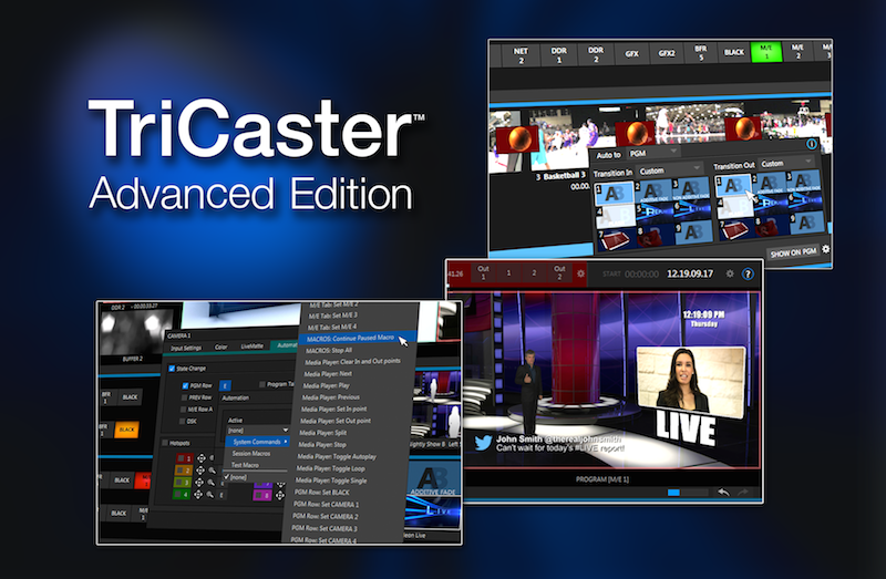 NewTek announces TriCaster Advanced Edition Software Upgrades