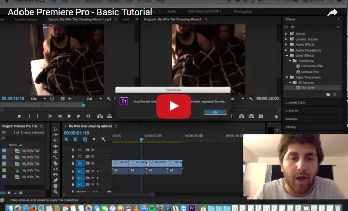 Adobe Premiere Pro Basic Tutorial