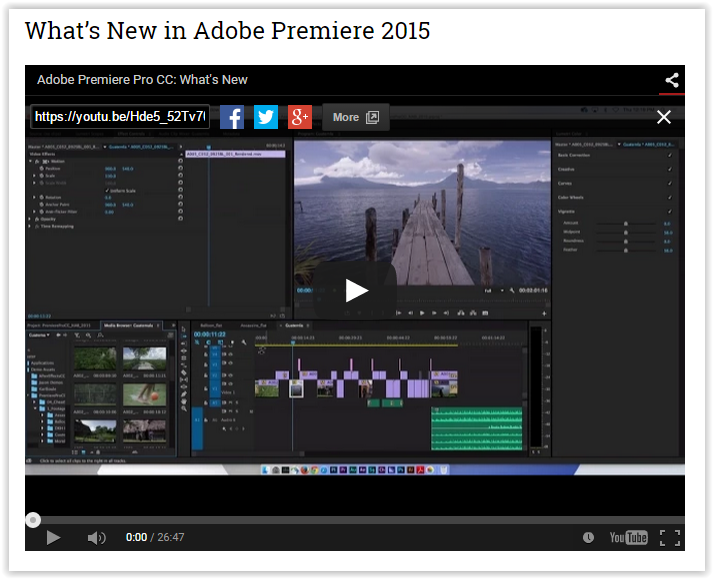 Check out these Premiere Pro CC 2015 Video Tutorials