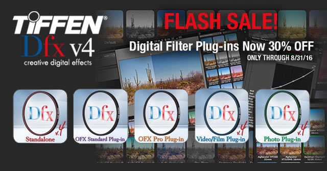 Flash Sale! Tiffen Dfx 4 Digital Filter Plug-ins Now 30% Off