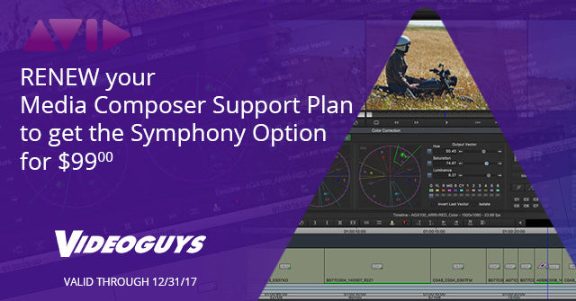 Renew Media Composer Support and Get Symphony Option for $99!