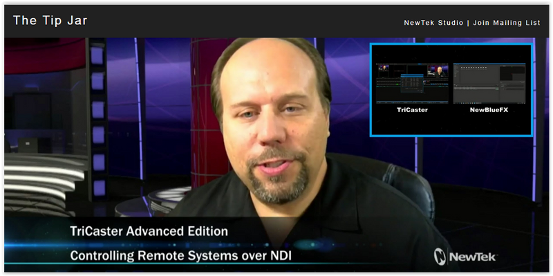 NewTek NDI Workflow Tutorial: TriCaster and NewBlueFX  Titler Live