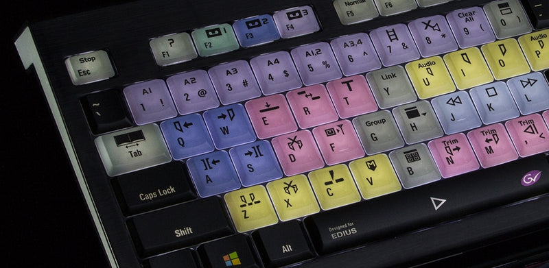 NEW! logickeyboard Astra Series Backlit Shortcut Keyboards