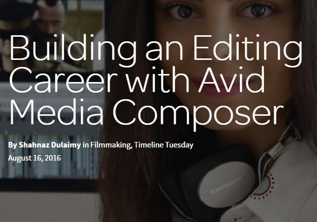 Editor Writes about Building Her Career with Avid Media Composer