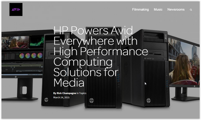 HP Powers Avid Everywhere Videoguys recommends HP Workstions