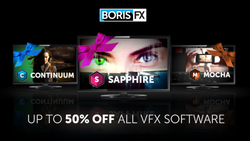 BorisFX Black Friday Specials with 30% to 50% Off All VFX Software