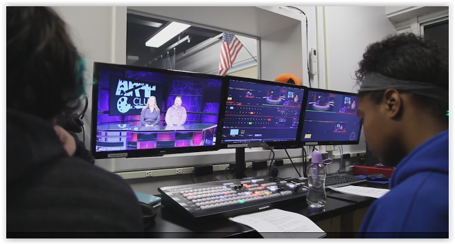 Students use NewTek TriCaster for morning broadcasts