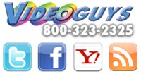 Follow Videoguys on our Blog, Twitter and Facebook!