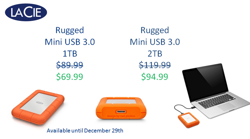 LaCie Rugged Mini Black Friday Specials