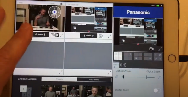 Panasonic PTZ Camera Control App LiveCTRL for iOS