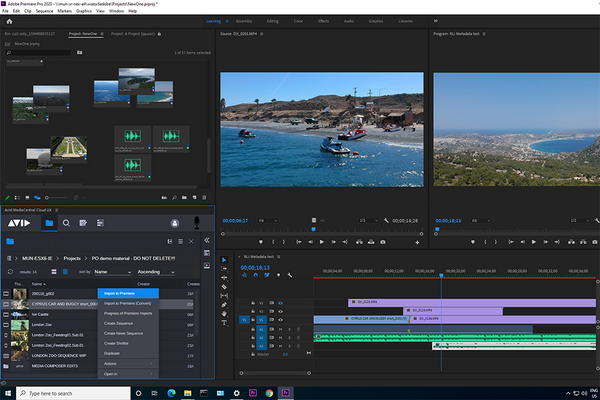 Introducing Avid MediaCentral Panel for Adobe Premiere Pro!