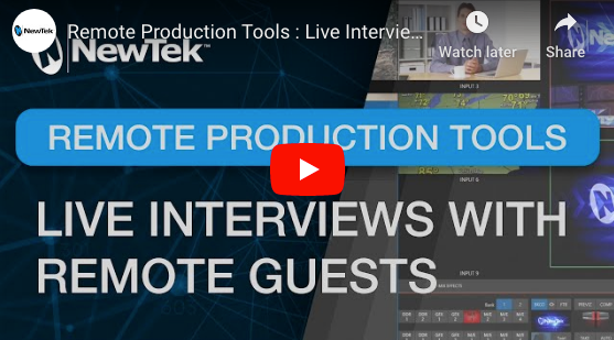 NewTek Remote Production Tools : Setting up SkypeTX Interviews With Remote Guests.