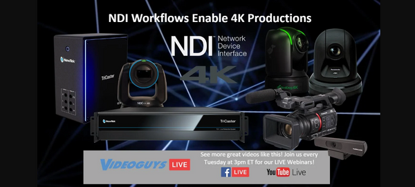 NDI Workflows Enable 4K Productions