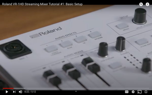 Roland VR-1HD Video Mixer and Live Streaming Tutorial #1