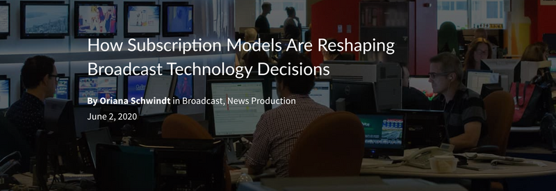 Learn How Avid Subscriptions are Saving Broadcasters Money