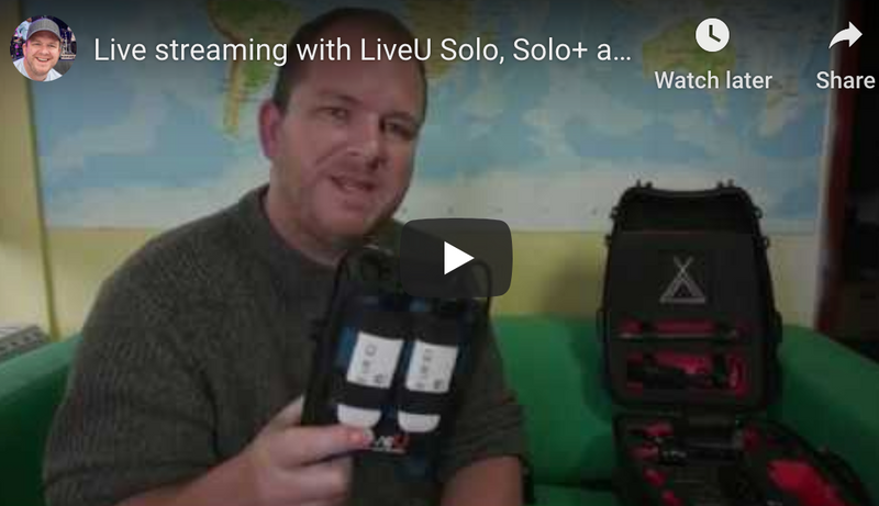 Live Streaming with LiveU Solo(s)