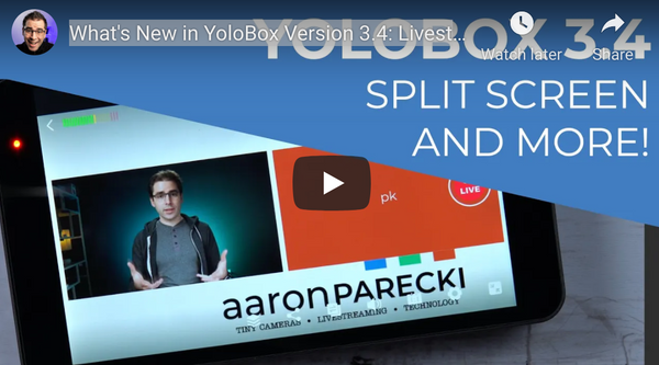 YoloBox 3.4 Update: HDMI Program Out, Livestream chat, PDFs & Split Screen Mode